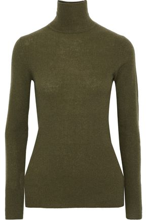 Ribbed cashmere turtleneck sweater 0b5b3950c