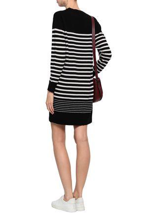ENZA COSTA Striped cashmere mini dress