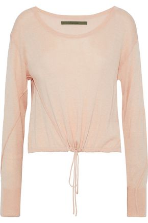 ENZA COSTA Gathered stretch-knit top