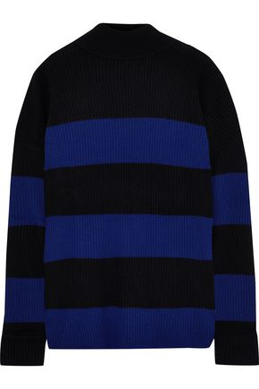LINE Lucy striped cashmere turtleneck sweater