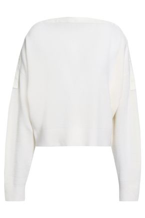 ALEXANDERWANG.T Ribbed merino wool-blend sweater