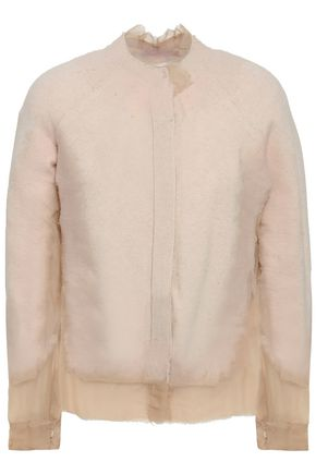 MAISON MARGIELA Frayed paneled cashmere and voile cardigan
