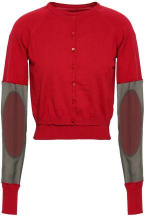 MAISON MARGIELA Paneled cotton-voile sweater cardigan