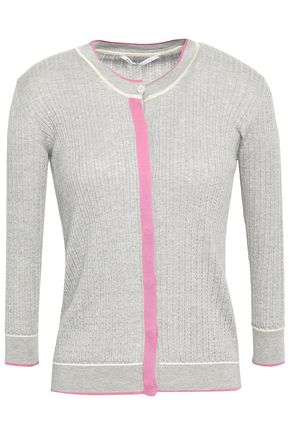 AGNONA Pointelle-knit silk and cotton-blend sweater