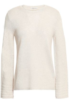 AGNONA Cashmere and linen-blend sweater