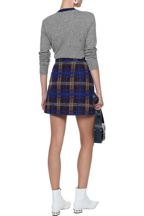 CHINTI AND PARKER Bow-embellished mélange cashmere and wool-blend sweater