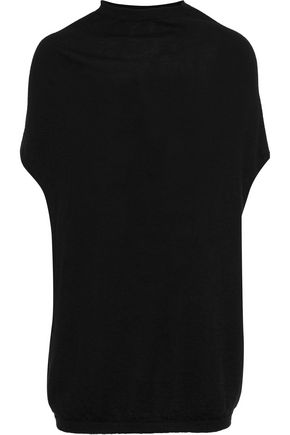 RICK OWENS LILIES Crater brushed-cashmere tunic