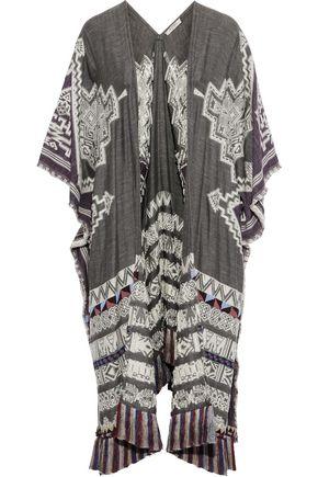 ETRO Fringe-trimmed embellished woven kimono