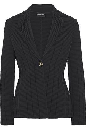 GIORGIO ARMANI Ribbed-knit blazer