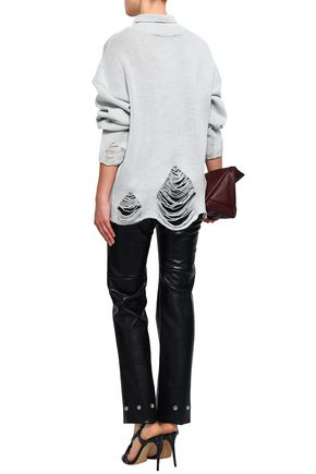IRO Distressed knitted turtleneck sweater