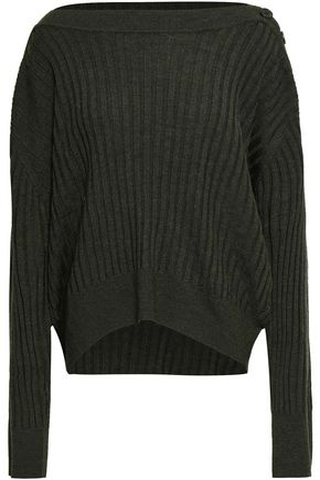 IRO Button-detailed ribbed wool sweater