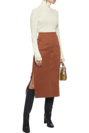 ELIE TAHARI Pointelle-knit merino wool turtleneck sweater