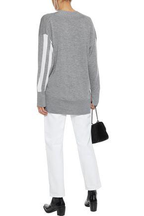 RAG & BONE Draped striped merino wool sweater