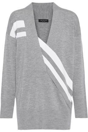 RAG & BONE Draped striped merino wool sweater