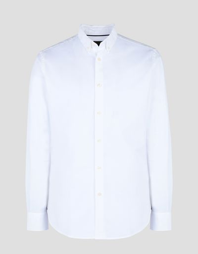 Scuderia Ferrari Online Store - Men's shirt with button-down collar - Long Sleeve Shirts