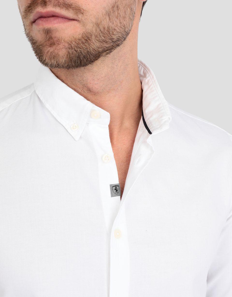 Scuderia Ferrari Online Store - Camicia uomo con colletto button down - Camicie a Maniche Lunghe