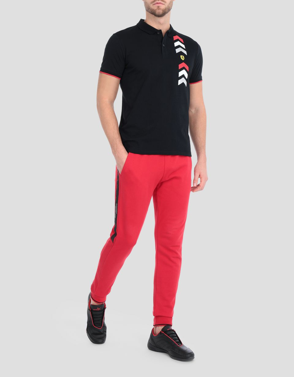Scuderia Ferrari Online Store - Men's jersey polo with arrow print -