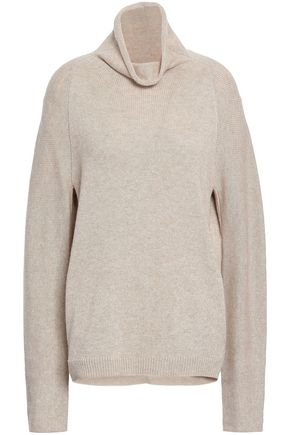 THEORY Norman mélange cashmere turtleneck sweater