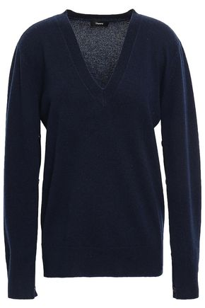 THEORY Button-detailed cashmere sweater