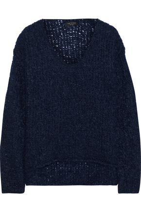 RAG & BONE Freda bouclé-knit mohair-blend sweater
