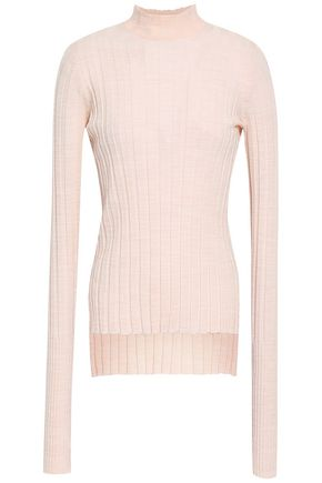 THEORY Ribbed merino wool-blend turtleneck top