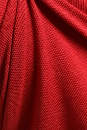 EACH X OTHER Appliquéd ribbed stretch-cotton turtleneck top