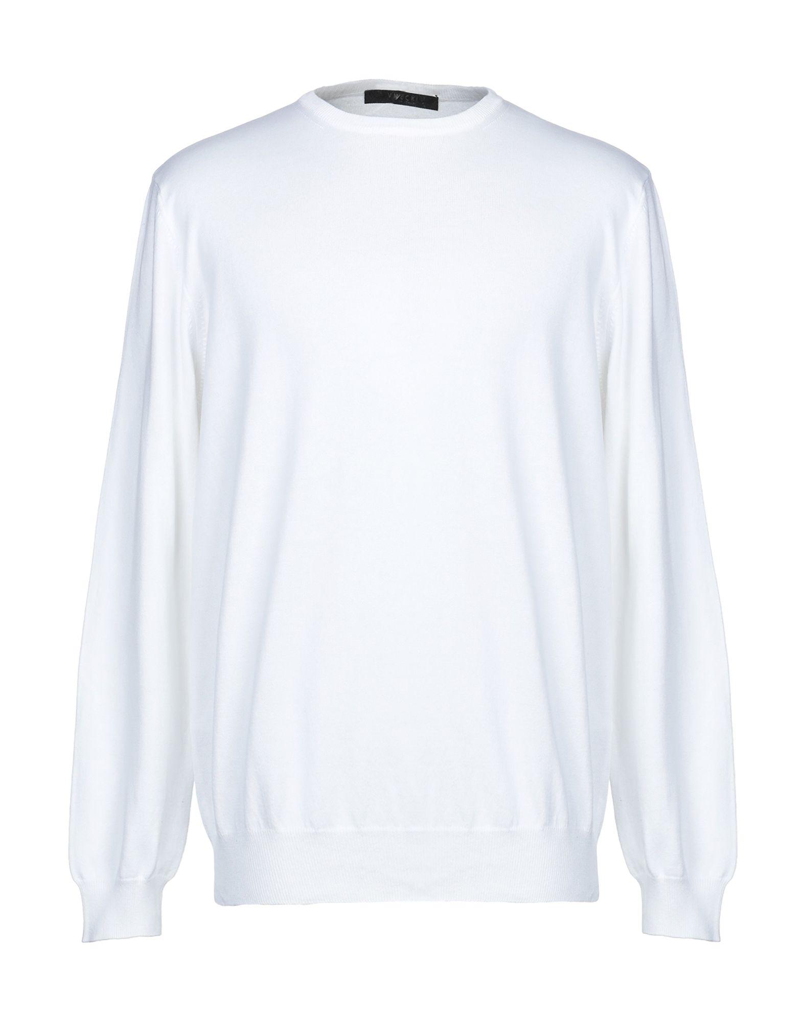 《セール開催中》VNECK メンズ プルオーバー ホワイト 56 コットン 100%