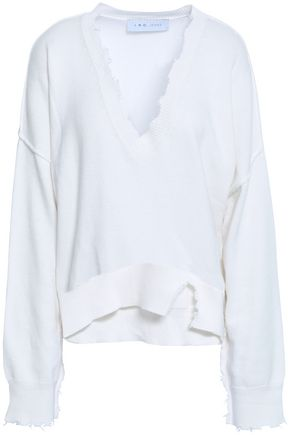 IRO Distressed cotton and cashmere-blend sweater