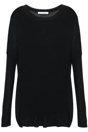 IRO Silk and wool-blend top