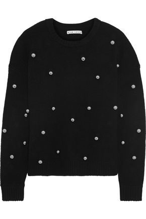 ALICE + OLIVIA Bead-embellished knitted sweater