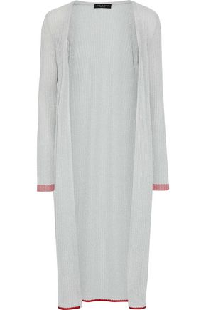 RAG & BONE Flora metallic ribbed-knit cardigan