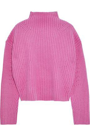 DIANE VON FURSTENBERG Cropped ribbed cashmere sweater