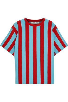 DIANE VON FURSTENBERG Striped intarsia-knit top
