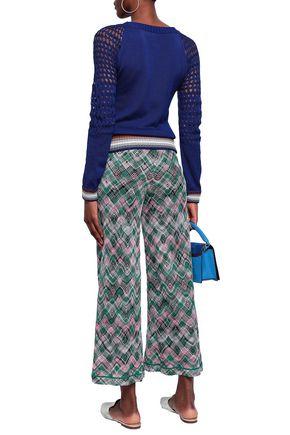 MISSONI Crochet and open knit-paneled cotton sweater