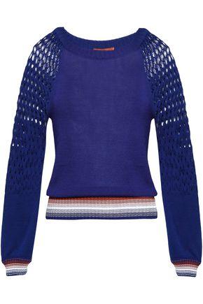 MISSONI かぎ針編み&オープンニット コットン セーター