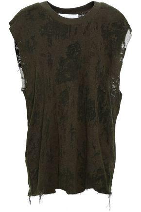 IRO Cotton-blend slub jersey top