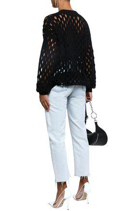 ALEXANDER WANG Open-knit wool-blend cardigan
