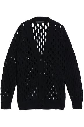 ALEXANDER WANG Open-knit wool-blend cardigan