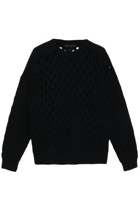 ALEXANDER WANG Open-knit wool-blend sweater
