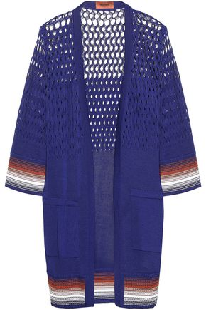 MISSONI Open knit-paneled cotton cardigan