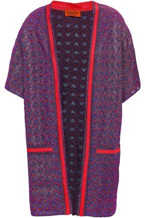 MISSONI | Missoni Metallic Crochet-Knit Cardigan | Goxip