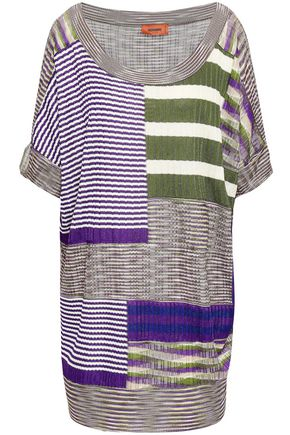MISSONI Patchwork-effect ribbed-knit top