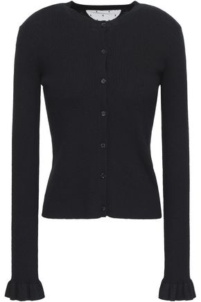 REDValentino Ribbed cashmere and silk-blend cardigan