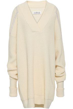 MAISON MARGIELA Waffle-knit cotton and wool-blend mini dress