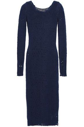 MAISON MARGIELA Distressed open-knit silk midi dress