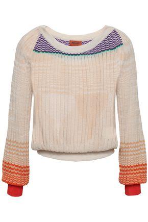 MISSONI Color-block crochet-knit sweater