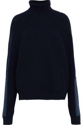 VICTORIA BECKHAM Appliquéd ribbed wool turtleneck sweater