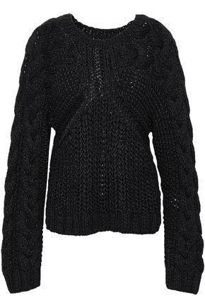 MM6 MAISON MARGIELA Cable-knit cotton-blend sweater