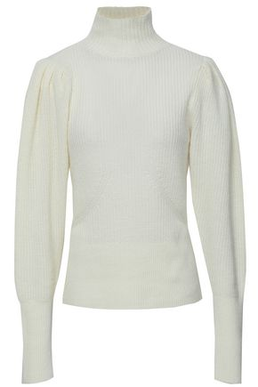 FRAME Ribbed wool and cashmere-blend turtleneck sweater
