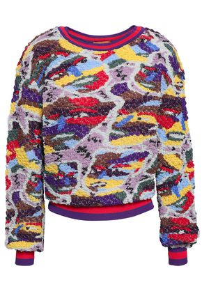 MISSONI Metallic embroidered bouclé-knit sweater